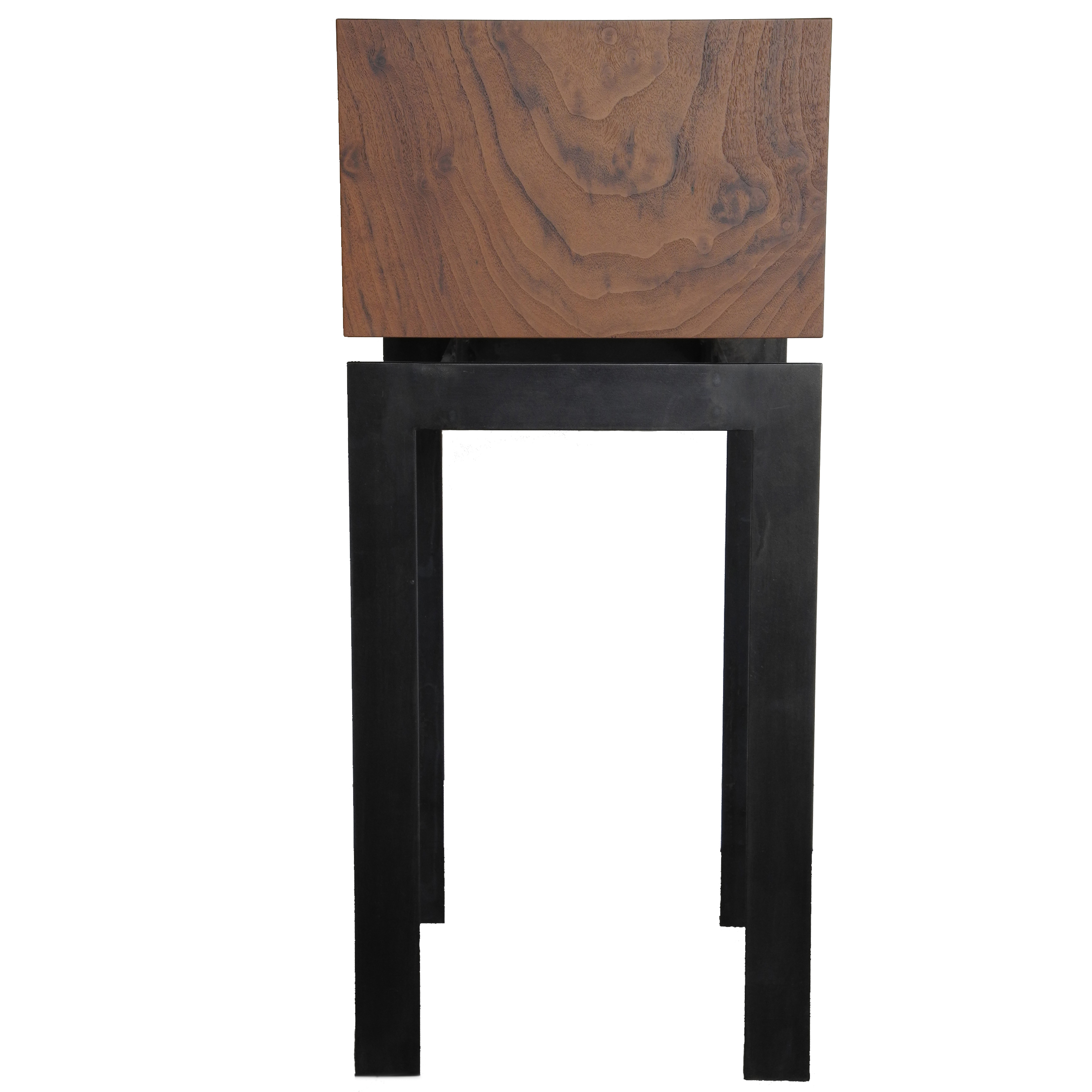 display pedestal end table square claro walnut