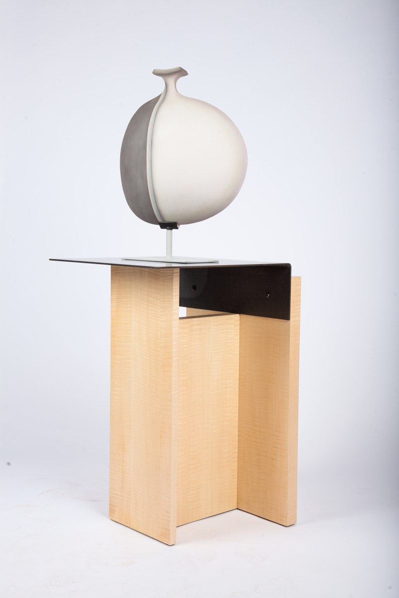 Cantilevered display pedestal end table