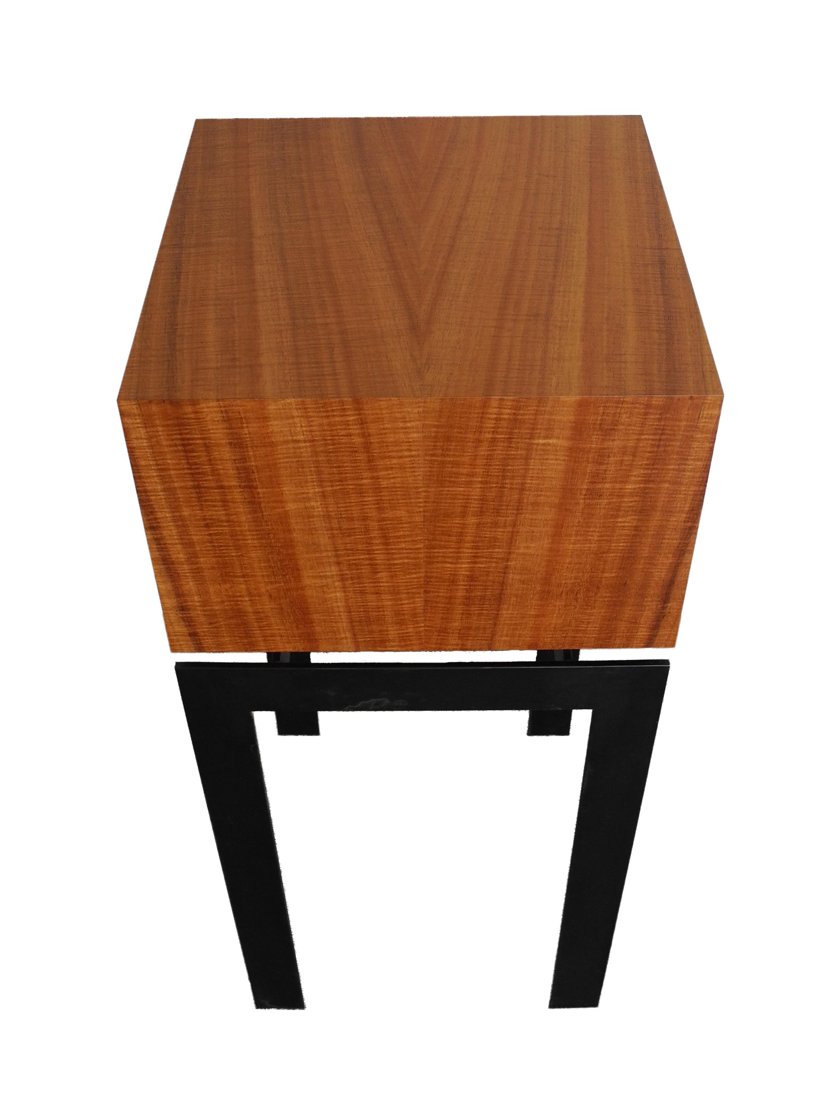 display pedestal end table square koa wood