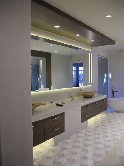 Custom bathroom vanity in La Jolla