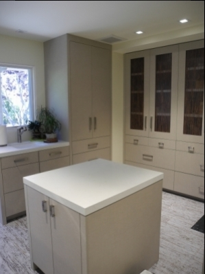 Contemporary laundry room in a La Jolla home