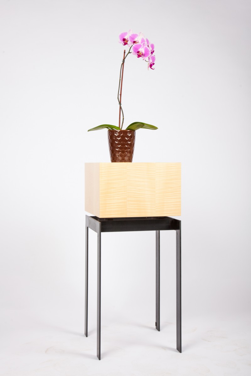 Cube Top display pedestal end table